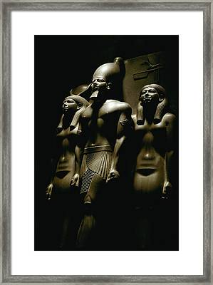 A Statue Of Pharoh Menkaura Framed Print