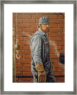 A Steam Fitter's Day Framed Print