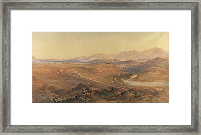 A Steam Train On The Ottoman Railway Framed Print by David Hall McKewan