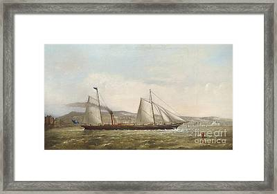 A Steam Yacht Of The New Brighton Yacht Club Framed Print