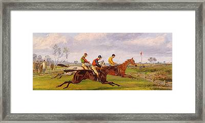 A Steeplechase  Framed Print by Thomas Henry Alken