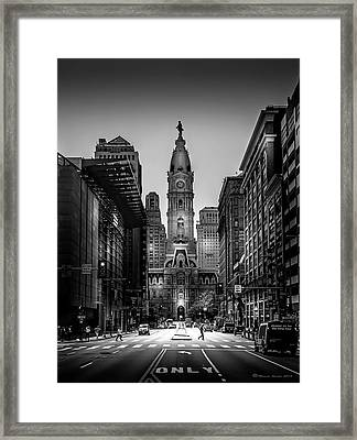 A Step Above B/w Framed Print by Marvin Spates