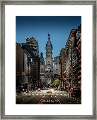 A Step Above  Framed Print