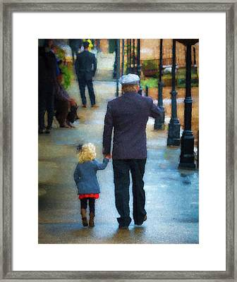 A Step Back In Time Framed Print