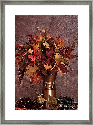 A Still Life For Autumn Framed Print by Sherry Hallemeier