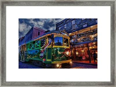 A Stop At The Steakhouse Framed Print by Lee Dos Santos