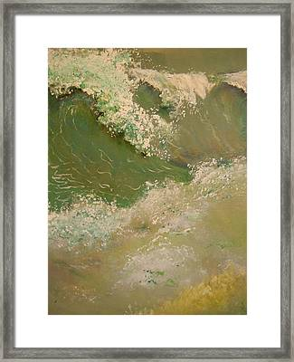 A Storm At Sea Framed Print