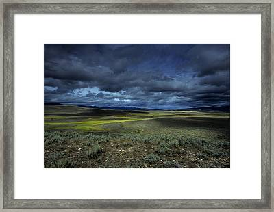A Storm Builds Up Over A Colorado Framed Print by David Edwards