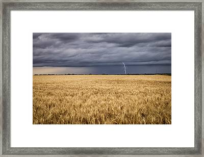 A Storm Passing By Framed Print
