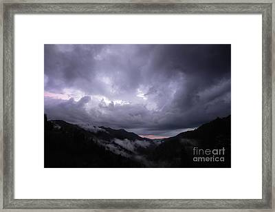 A Storms A Comin Framed Print by Todd Bielby