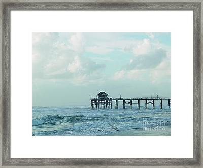 A Storm's Brewing Framed Print
