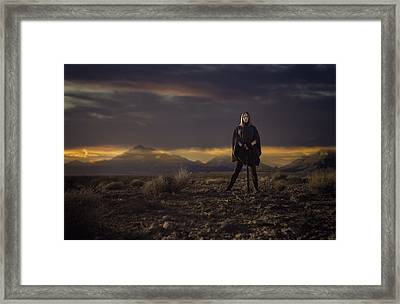 Framed Print featuring the photograph A Storms Brewing by Ryan Smith