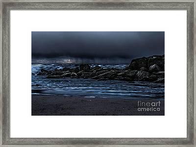 A Stormy Sky  Framed Print by Chris Evans