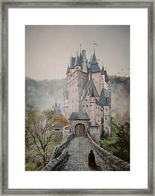 A Story At Eltz Castle Framed Print
