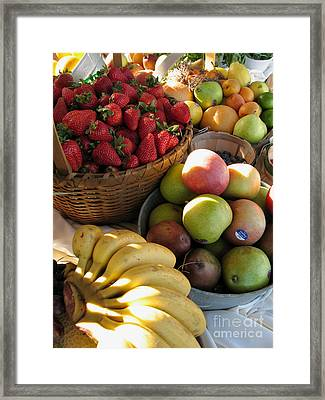 A Strawapplenana Show Framed Print by James B Toy