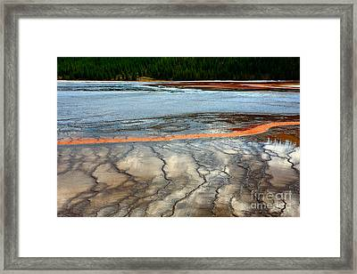 Framed Print featuring the photograph A Stream Of Gold by Robert Pearson