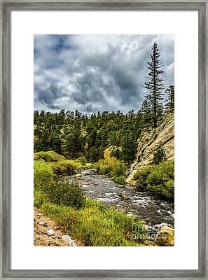 A Stream Runs Thru It Framed Print by Jon Burch Photography