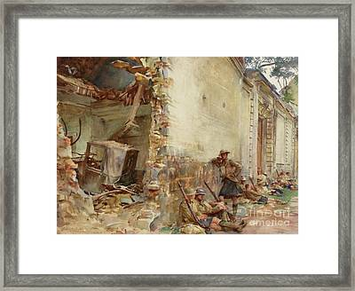 A Street In Arras, Wwi Framed Print