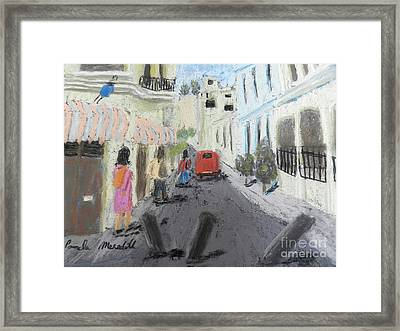 A Street In Chile Framed Print