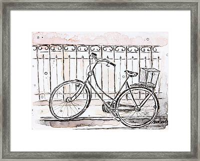 A Street In France Framed Print by Shaina Stinard