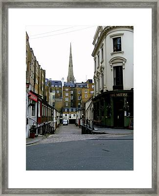 A Street In London Framed Print by Mindy Newman