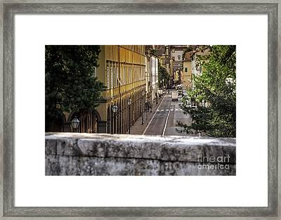 A Street In Lucca Framed Print