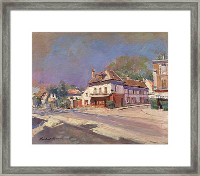 A Street In The South Of France Framed Print