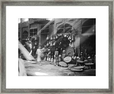 A Street Scene In Baghdad Framed Print by Underwood Archives