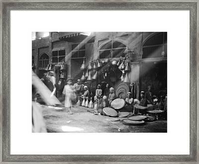 A Street Scene In Baghdad Framed Print