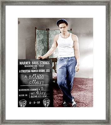 A Streetcar Named Desire, Marlon Brando Framed Print by Everett