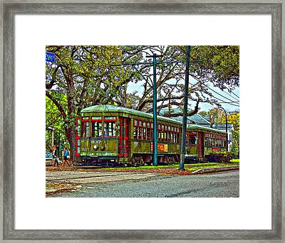 A Streetcar Named St. Charles Framed Print by Steve Harrington