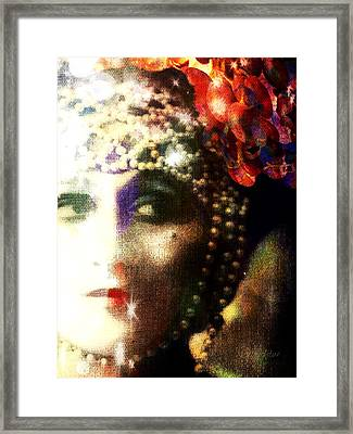 Framed Print featuring the digital art A String Of Pearls by Delight Worthyn