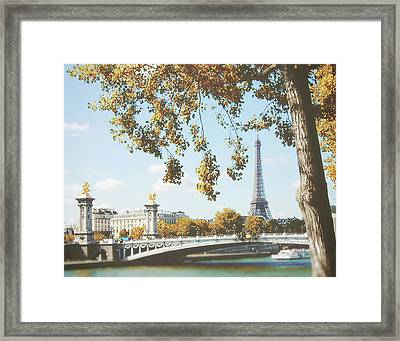 A Stroll Along The River Seine In Paris Framed Print by Ivy Ho