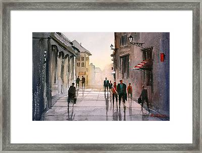 A Stroll In Italy Framed Print