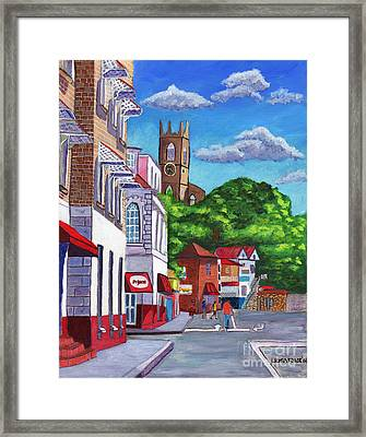 A Stroll On Melville Street Framed Print