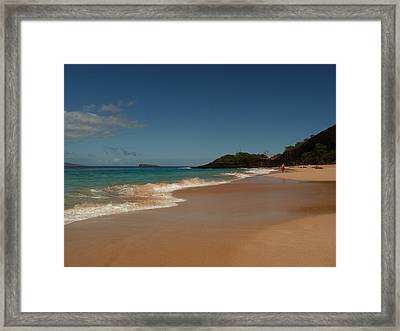 A Stroll On Warm Sands Framed Print