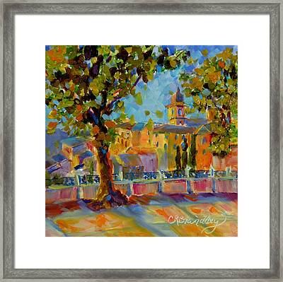 A Stroll Through The City Framed Print