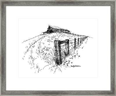 A Strong Fence And Weak Barn Framed Print