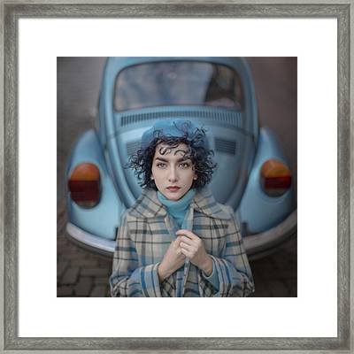 A Study In Blue Framed Print by Anka Zhuravleva