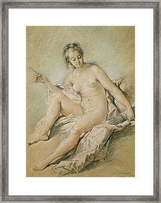 A Study Of Venus Framed Print by Francois Boucher