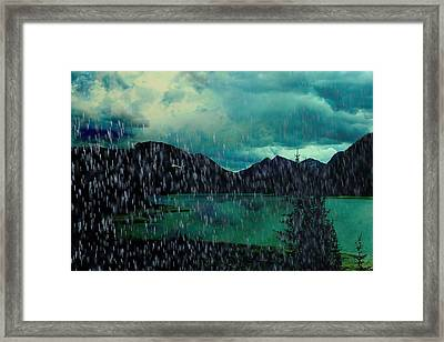 A Sudden Downpour Framed Print by Shirley Sirois