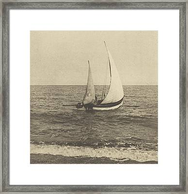 A Suffolk Shrimper Going Off Framed Print by Celestial Images