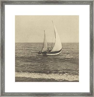 A Suffolk Shrimper Going Off Framed Print