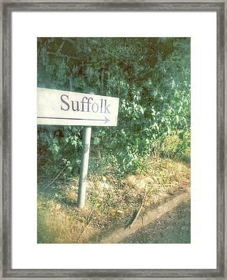 A Suffolk Sign Framed Print by Tom Gowanlock