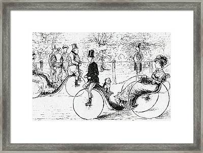 A Suggestion For The Park Framed Print by English School