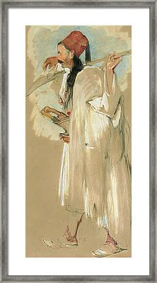 A Suliote Warrior  Framed Print by John Frederick Lewis