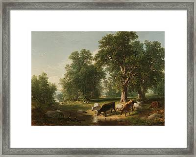 A Summer Afternoon Framed Print by Asher Brown Durand