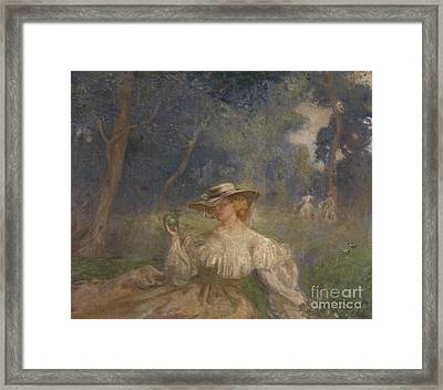 A Summer Afternoon The Green Apple  Framed Print