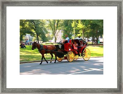 A Summer Carriage Ride Framed Print by Allen Beatty