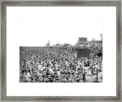 A Summer Day At Coney Island Framed Print